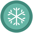 Cold, snowflake, Snow, Ice MediumAquamarine icon