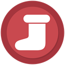 christmas, socks, new year IndianRed icon