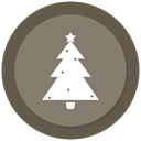 Tree, christmas, new year, Christmas tree Gray icon