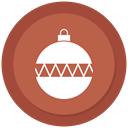 ornament, bauble, Ball, christmas IndianRed icon