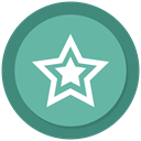 star, new, Stars, Favourite MediumAquamarine icon