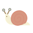 Shell, sluggish, Snail, slow, Mollusc Black icon