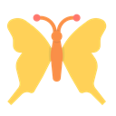 insect, butterfly, spring, moth, flutter, monarch, serenity SandyBrown icon