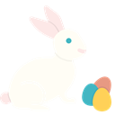 easter, eggs, paschal, play, Bunny, rabbit Ivory icon