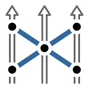 group, Strategic, cross, Move, tactic Black icon