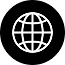 global, globe, international, world, Circle, travel, Language Black icon