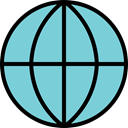 earth, global, globe, world, Map SkyBlue icon