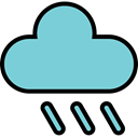 Cloud, Cloudy, Rain, Overcast, cloudlike SkyBlue icon