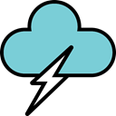 download, Cloud, upload, Flash, Rain, speed SkyBlue icon