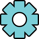 configuration, Setting, optioan, Gear, wheel, config SkyBlue icon