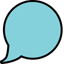 Bubble, Balloon SkyBlue icon