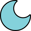 Eclipse, Dark, dim, Moon, night, light SkyBlue icon