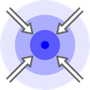 Move, tactic, Strategic, Center, focus, together Lavender icon