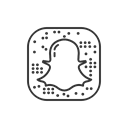 social media, Snapchat, Logo, name Black icon