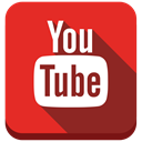 Social, youtube, video, google, social media Crimson icon