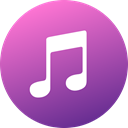 media, itunes, Gradient, Circle, social media, Social, Colored MediumOrchid icon