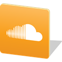 media, upload, Logo, share, social media, Social, Soundcloud Goldenrod icon