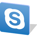 media, Logo, Skype, share, social media, Social SteelBlue icon
