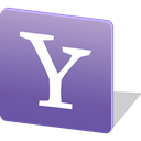 media, Logo, yahoo, social media, Social SlateBlue icon