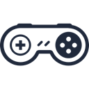 Camera, Game, play, controller, digital Black icon