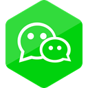 Social, Colored, Hexagon, Wechat, media, social media, High Quality LimeGreen icon