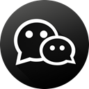 Circle, social media, Social, Wechat, long shadow, High Quality, Black white DarkSlateGray icon