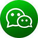 Wechat, social media, Social, Colored, media, Gradient, Circle Green icon