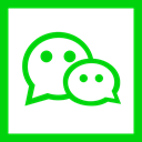 media, square, social media, Social, Colored, Wechat, High Quality Lime icon