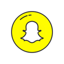 Snapchat, snapchat logo, Ghost, mobile app Black icon