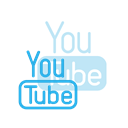 Social, youtube, media, Logo Black icon