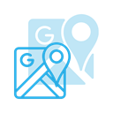 Logo, google, Maps, Brand, Logos, Brands DodgerBlue icon