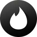 tinder, High Quality, Circle, social media, Social, long shadow, Black white DarkSlateGray icon