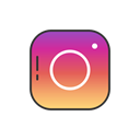 Instagram, instagram logo, Logo, Label Black icon