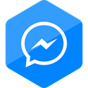 media, Messenger, social media, Social, Colored, Hexagon, High Quality DodgerBlue icon