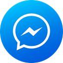 Gradient, Circle, media, Messenger, social media, Social, High Quality DodgerBlue icon