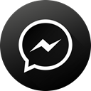 media, Messenger, Gradient, social media, Social, long shadow, Black white DarkSlateGray icon