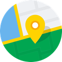 Map, navigate, Maps, Directions, direct SeaGreen icon