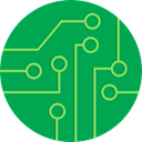 Chip, Grid, electronic, Circuit, mother board, power, Board SeaGreen icon