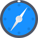 Browser, compass, navigate, safari, Maps, Directions, direct DodgerBlue icon