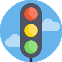 signal, highway, Traffic, Lights, signals, lamps CornflowerBlue icon