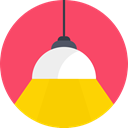 Fitting, light, lamp, shade, Lights, Lampshade Tomato icon