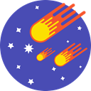 rounded, cosmic, Comets, Stars, space Icon