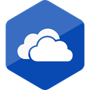 Social, Colored, media, social media, Hexagon, High Quality, one drive SteelBlue icon