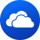 media, Gradient, Circle, social media, Social, Colored, one drive RoyalBlue icon