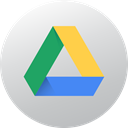 media, Gradient, Circle, social media, Social, google drive, High Quality Silver icon