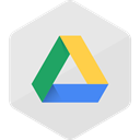 media, social media, Social, Colored, Hexagon, google drive, High Quality Gainsboro icon