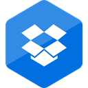 Colored, Hexagon, High Quality, social media, Social, media, dropbox DodgerBlue icon