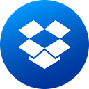 Circle, social media, media, dropbox, Gradient, Social, High Quality DodgerBlue icon