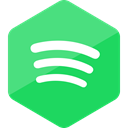media, social media, High Quality, Spotify, Hexagon, Social, Colored MediumSeaGreen icon