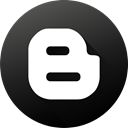 media, blog, Social, Blogspot, Black white, social media, blogger Icon
